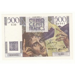 500 FRANCS CHATEAUBRIAND 6 Septembre 1945 SPL+