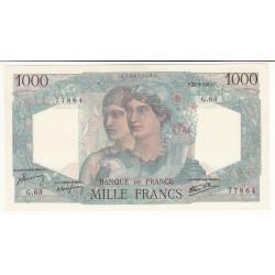 1000 FRANCS MINERVE ET HERCULE 28 Juin 1945 SUP+