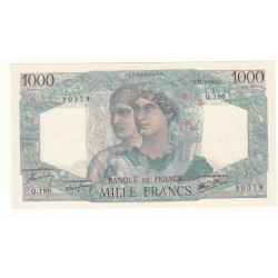 1000 FRANCS MINERVE ET HERCULE 21 Février 1946 NEUF