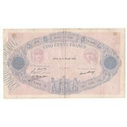 500 FRANCS BLEU ET ROSE 14 Février 1928