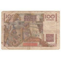 100 FRANCS JEUNE PAYSAN 04-03-1954 Filigrame inversé