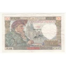 50 FRANCS JACQUES COEUR  2-10-1941