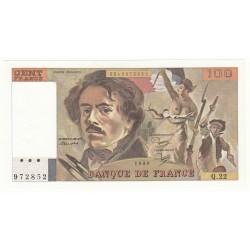 100 FRANCS DELACROIX 1980 Q.22 SPL