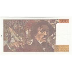 100 FRANCS DELACROIX  1990  Q.153 TTB+