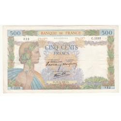 500 FRANCS LA PAIX 31-10-1940 TB+ Fay 32-8