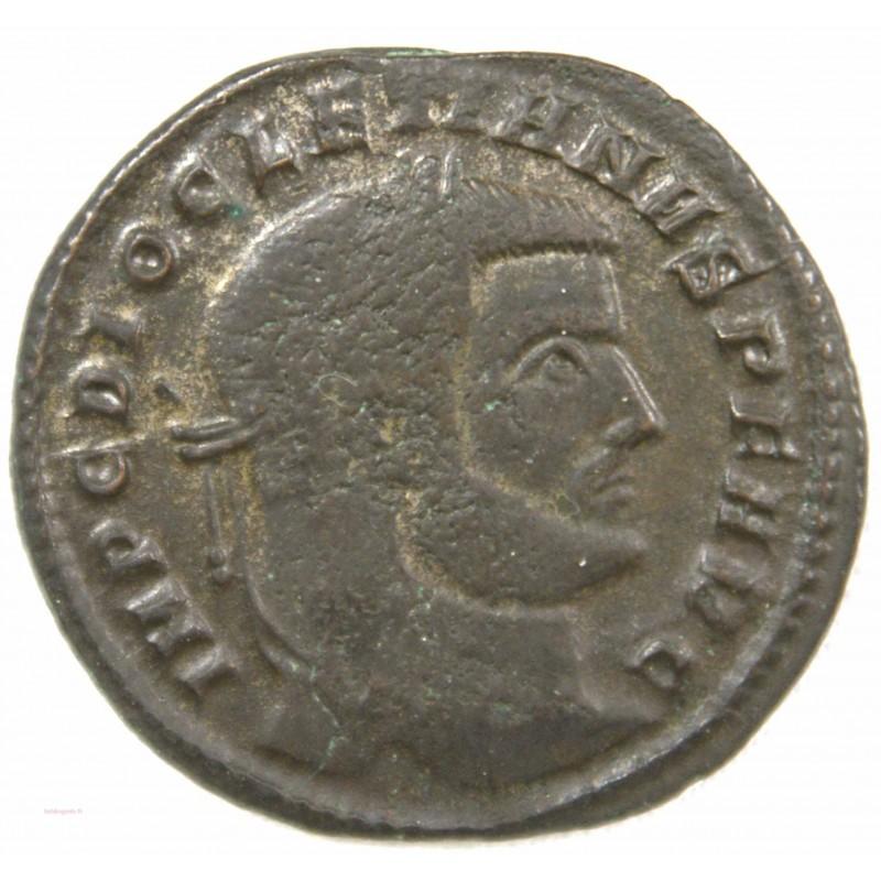 Romaine - Follis Diocletien, Sacra moneta poids léger +300-303