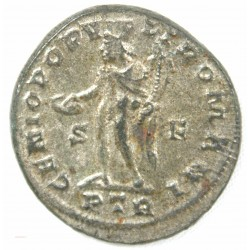 Romaine - Follis Diocletien, Génius +303-305