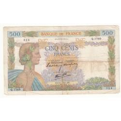 500 FRANCS LA PAIX 9-01-1941 TB-