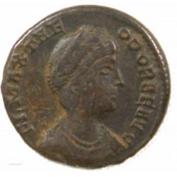 Romaine - Nummus THEODORA , Trèves +337-340 AP JC