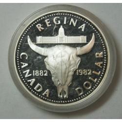 1982 CANADA REGINA 1 DOLLAR - Silver Dollar