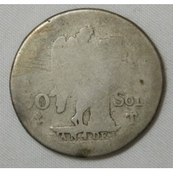 30 SOLS 1792 T 1er semestre Louis XVI Cote 70€ en B