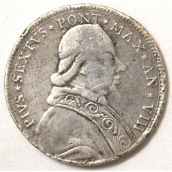 Comtat Venaissin - Pape MARTIN V - Carlin rognée ou demi Carlin- 1417-1431