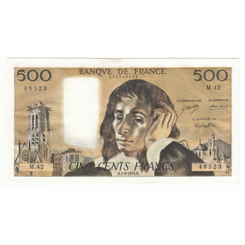 500 FRANCS PASCAL 3-10-1991 SUP