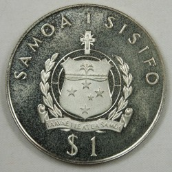 SAMOA I SISIFO 1$ 1977 Silver Argent  KM26a
