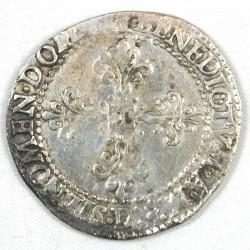 HENRI III - Franc col Plat 1578 D Lyon