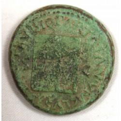 Romaine - Dupondius NERON R/ Temple Janus Ric 339