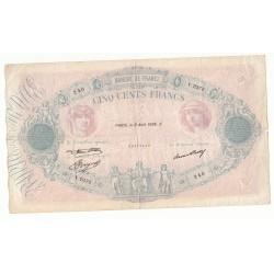 500 FRANCS BLEU ET ROSE 6 Aout 1936