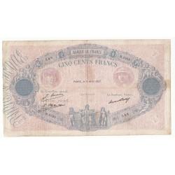 500 Francs BLEU ET ROSE 09-04-1927 TB Billet entier Fayette 30.30