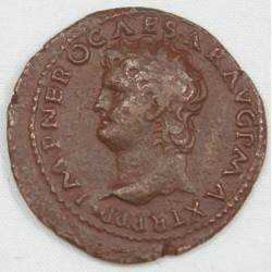Romaine - As NERON Tête à gauche R/ VICTOIRE- 65 AC