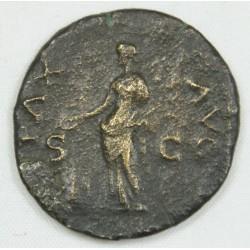 Romaine - As NERON  Tête à droite, 66 AC