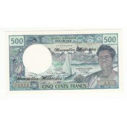 Nouvelles Hebrides 500 Francs 1970 Pick 19a A/UNC