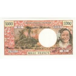 NOUVELLES HEBRIDES 1000 FRANCS Pick 20c NEUF