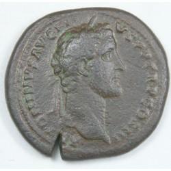 Romaine - Sesterce ANTONIN LE PIEUX R/ Annona, Ric 142