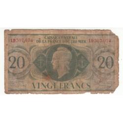 CAISSE CENTRALE DE LA FRANCE D'OUTRE MER- 20 FRANCS- ND