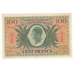 CAISSE CENTRALE DE LA FRANCE D'OUTRE MER- GUYANE- 100 FRANCS- ND 1943 (K218a) SUP
