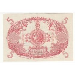 French Guiana, GUYANE 5 Francs CABASSON  SUP  K.2015 1946