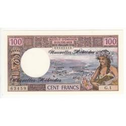 NOUVELLES HEBRIDES 100 FRANCS 1970 Pick 18a P/NEUF
