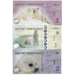 Artic Territories 2017, lot 25,50,100, 250, 500 Polar dollars – Polymer, Neuf