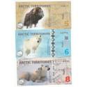 ARCTIC TERRITORIES, LOT DE 14 BILLETS Polar dollars – POLYMERE, NEUFS