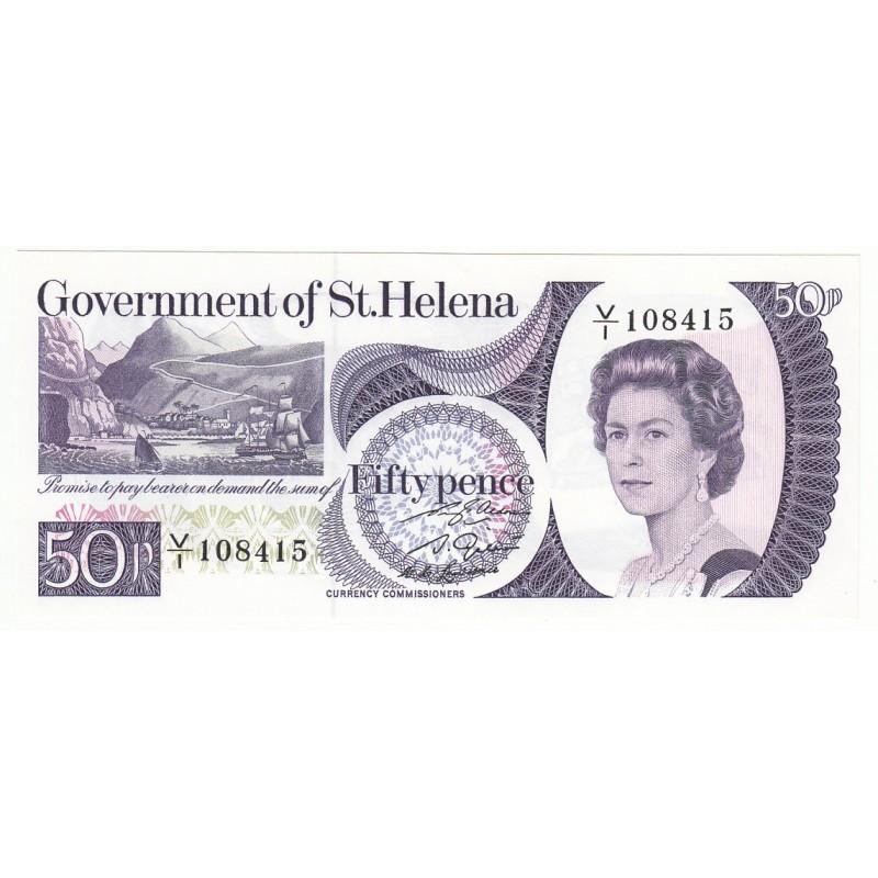 SAINTE HELENE 50 pence 1976 NEUF