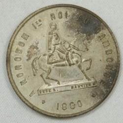 Cambodge - Médaille de couronnement de Norodom Ier. 1860.