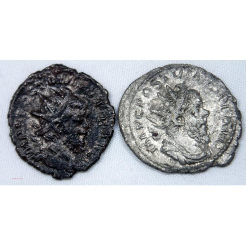 Monnaie Romaine, 2 x Antoniniens de Postume billon