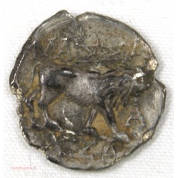 Gauloise - Marseille drachme légère, tête et lion à droite