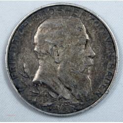 ALLEMAGNE - Baden, Friedrich I., 2 Mark 1902 (G)