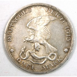 ALLEMAGNE - 1913 Germany Prussia 3 Mark
