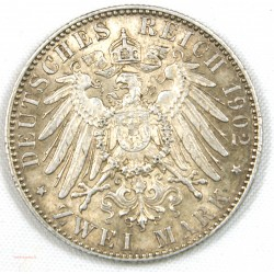 ALLEMAGNE - SACHSEN.Georg KOENIG, 2 Mark 1902 (e)