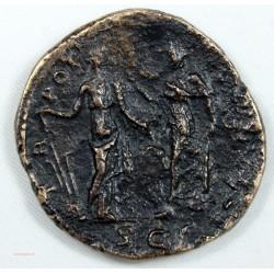 Romaine - Sesterce AELIVS, AELIUS 137 AC Ric 1054a