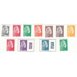 FRANCE - AUTOADHESIFS PRO, 11 TIMBRES  2018  NEUFS