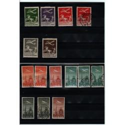 Timbre Danemark Poste Aérienne N° 1 à 10 (Signé) + 500€ de côte