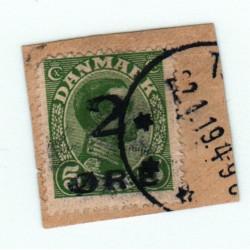 Timbre DANEMARK N° 121 sur fragment cote: 550.00 €