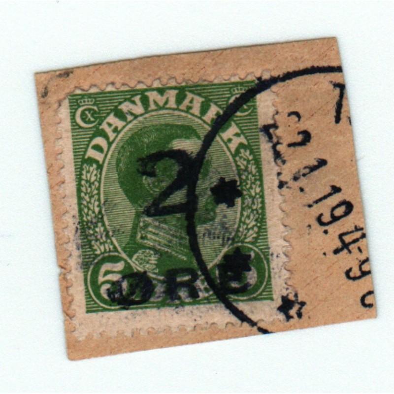 Timbre DANEMARK, 1919 N° 121  sur fragment cote: 550.00 €