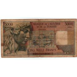 5000 Francs 27-7-1953 Banque de l' algérie et de laTunisie