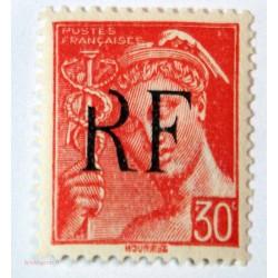 Libération Montreuil-Bellay - 1944 30 c. rouge variété R incomplet