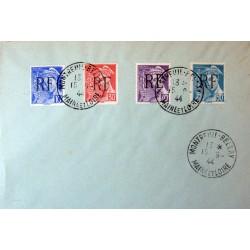 Libération Montreuil-Bellay - 1942 4 Timbres sur lettre