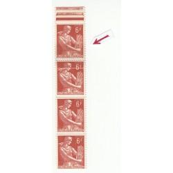 VARIETE- Impression sur raccord du N° 1115 6 Francs - Côte 130€