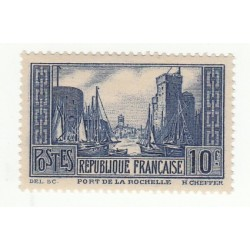 TIMBRE 10 FRS BLEU N° 261 PORT DE LA ROCHELLE NEUF++ COTE 170 Euros
